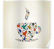 Cup a bird Poster