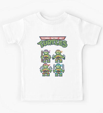 Teenage Mutant 8bit Turtles Kids Tee