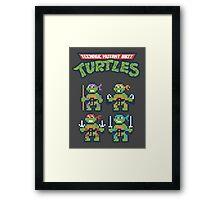 Teenage Mutant 8bit Turtles Framed Print
