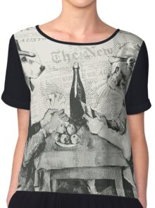 The card players Chiffon Top