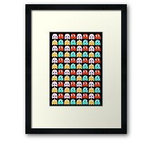 Pacman - All the Ghosts - Vintage Framed Print