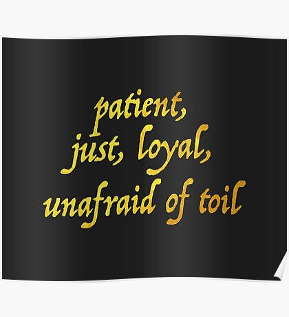 Just and Loyal Poster