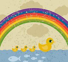 Ducks under a rainbow by Aleksander1