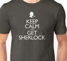 Keep Calm and Get Sherlock design Unisex T-Shirt