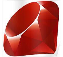 Ruby - Programming Language Logo Poster