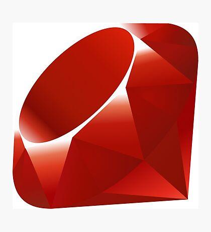 Ruby - Programming Language Logo Photographic Print