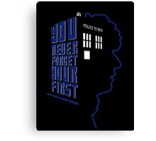 You Never Forget Your First - Doctor Who 4 Tom Baker Canvas Print