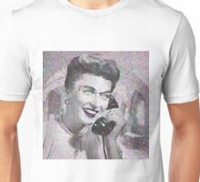 VINTAGE TELEPHONE LADY Unisex T-Shirt