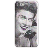 VINTAGE TELEPHONE LADY iPhone Case/Skin