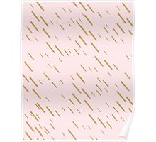 Simple French Pink + Gold Pattern // Shirt // Dress // Poster Poster