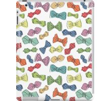 Fun dow tie pattern. Cartoon hipsters style iPad Case/Skin