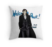 Sherlock Returns! Throw Pillow