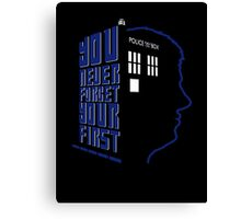 You Never Forget Your First - Doctor Who 5 Peter Davison Canvas Print