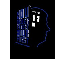 You Never Forget Your First - Doctor Who 5 Peter Davison Photographic Print