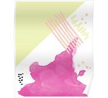 Big Neon Jolt Pattern // Shirt // Dress // Poster Poster