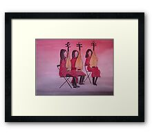 The Chinese Musicians Framed Print