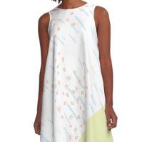 Pink Snow Pattern // Shirt // Dress // Poster A-Line Dress