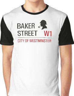 Sherlock Holmes Baker Street W1 sign Graphic T-Shirt