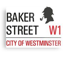 Sherlock Holmes Baker Street W1 sign Metal Print