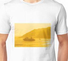 Cargo ship under sunset Unisex T-Shirt