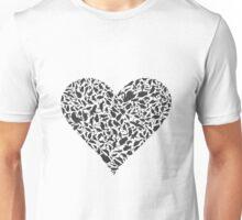 Heart a bird Unisex T-Shirt