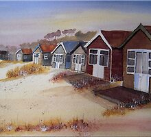 Beach Huts at Mudeford by FrancesArt