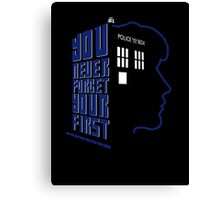 You Never Forget Your First - Doctor Who 8 Paul McGann Canvas Print