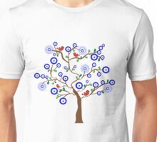 Lucky Evil Eye Bird Tree Unisex T-Shirt