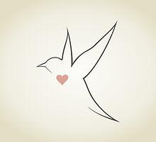 Heart a bird by Aleksander1
