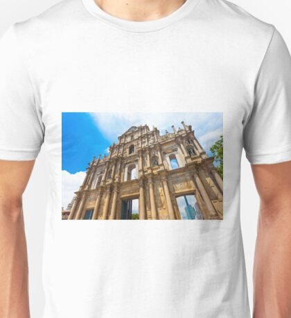 Ruins St Paul church in Macau, China Unisex T-Shirt