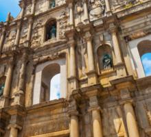 Ruins St Paul church in Macau, China Sticker