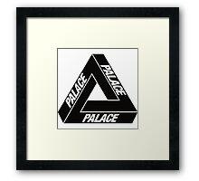 Palace Black Logo Clothing Framed Print