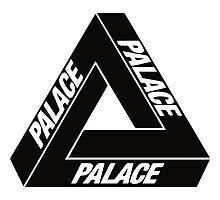 Palace Black Logo Clothing Photographic Print