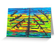 Pine Tree Abstraction Greeting Card