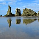 Bandon Beach Reflections by gcampbell