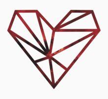 Red galaxy heart. Kids Tee