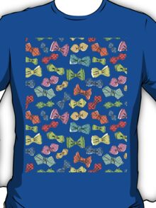 Fun dow tie pattern. Cartoon hipsters style T-Shirt