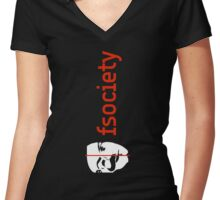 Mr. Robot - We Are The fsociety Women's Fitted V-Neck T-Shirt