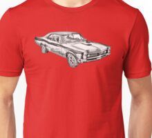 1967 Pontiac GTO Muscle Car Illustration Unisex T-Shirt