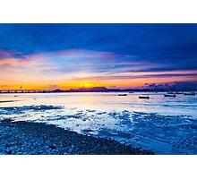 Sunset along the coast Photographic Print
