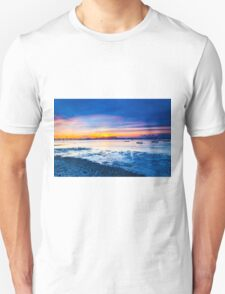 Sunset along the coast Unisex T-Shirt