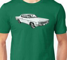 1966 Chevrolet Caprice 427 Car Illustration Unisex T-Shirt