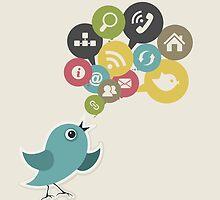 Social bird by Aleksander1