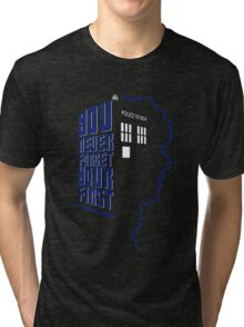 You Never Forget Your First - Doctor Who 4 Tom Baker Tri-blend T-Shirt