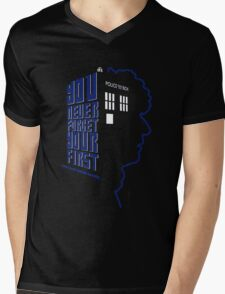 You Never Forget Your First - Doctor Who 4 Tom Baker Mens V-Neck T-Shirt
