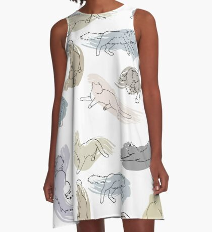 Swirl Kitten A-Line Dress