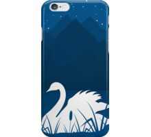 White swan iPhone Case/Skin