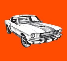 1965 GT350 Mustang Muscle Car Illustration Kids Clothes