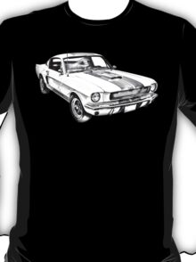 1965 GT350 Mustang Muscle Car Illustration T-Shirt