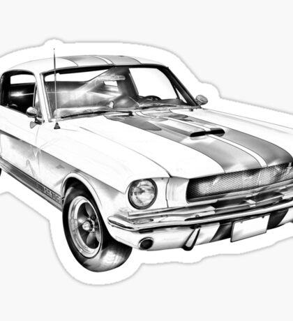 1965 GT350 Mustang Muscle Car Illustration Sticker